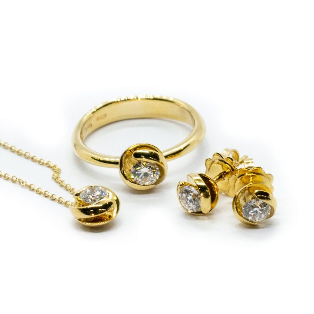 Ititoli komplet - rumeno zlato